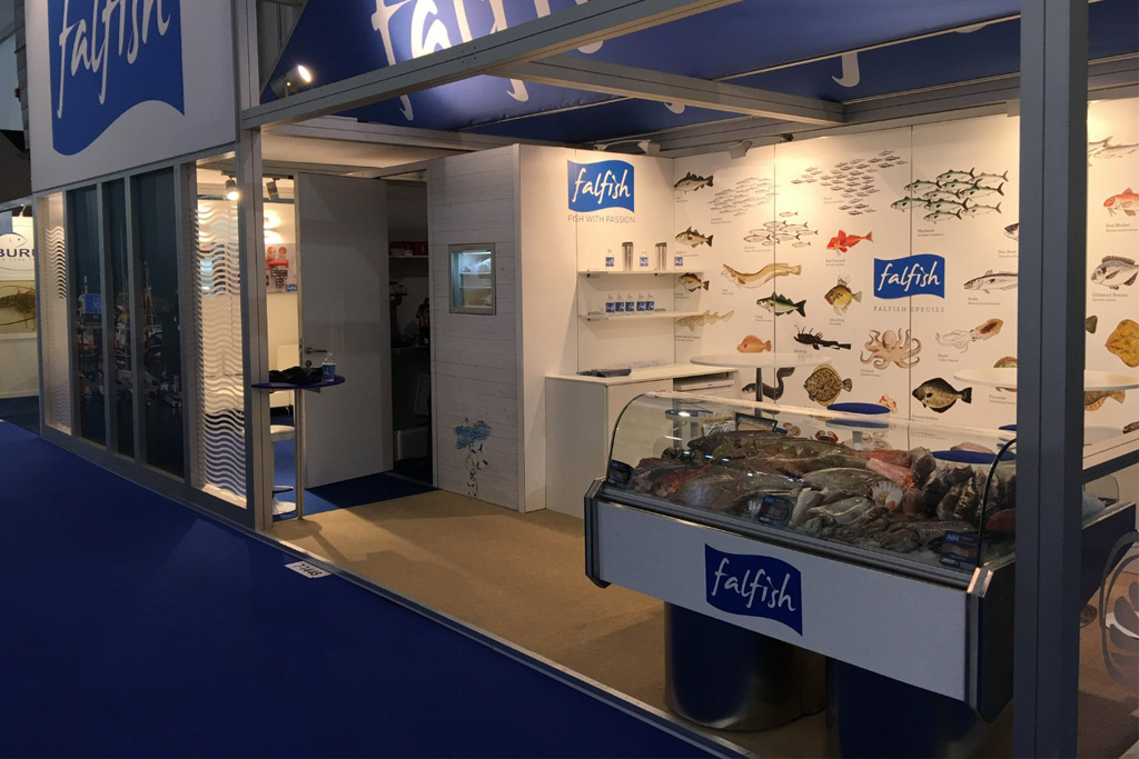 Fal Fish stand in Brussels
