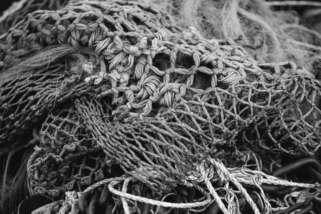 Fishing nets at Brixham harbour