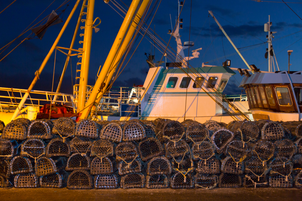 Boat with Crab Pots