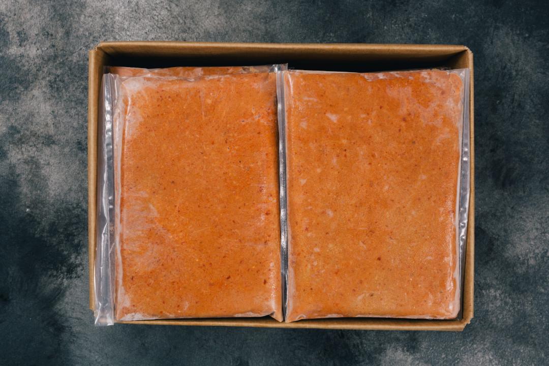 Frozen handpicked brown crab meat
