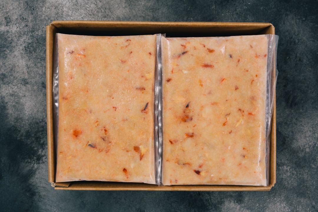 Frozen handpicked white crab meat